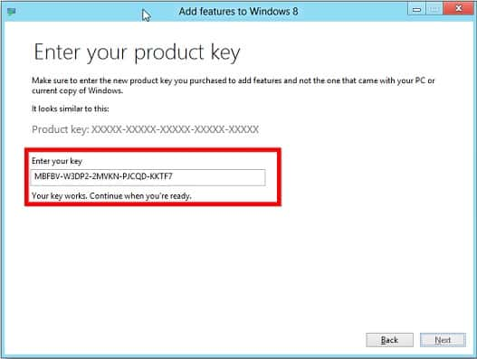 Example of a product activation screen that a keygen can be used on.